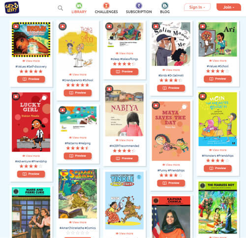 Read many books on children's book reading app