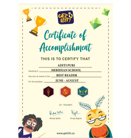 Get certificates on top free reading app for kids