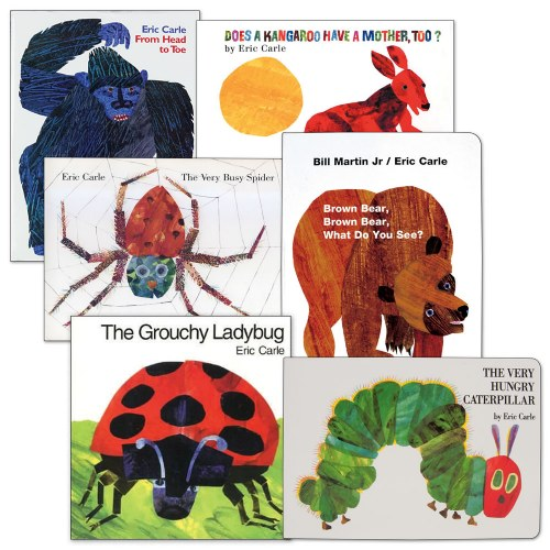 The Very Hungry Caterpillar by author Eric Carle