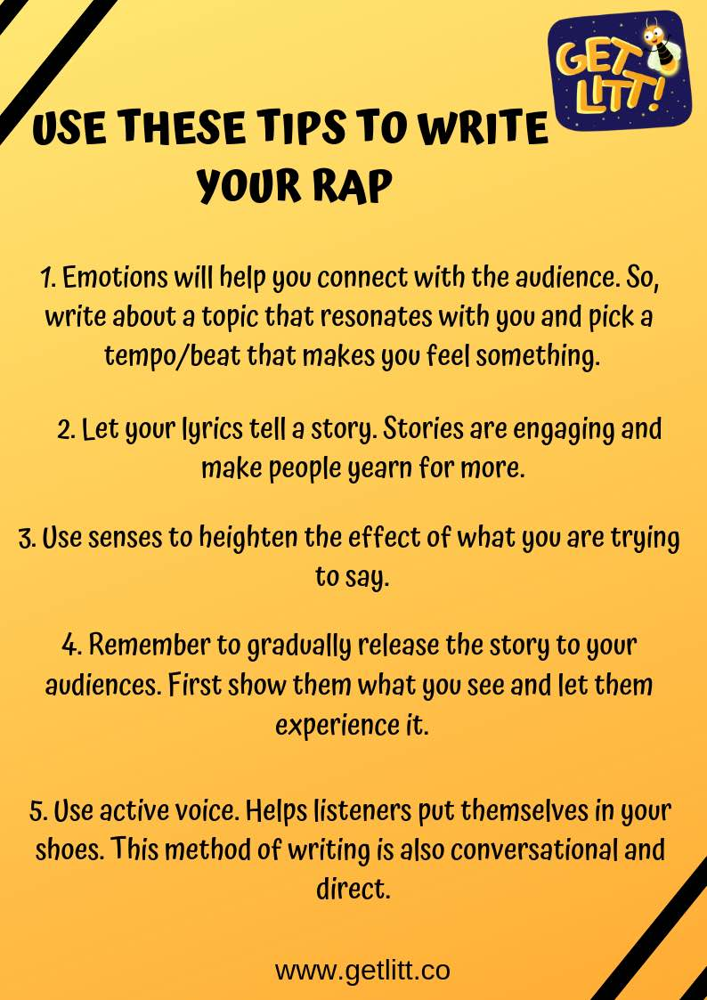 Tips to write your RAP Song - how to write a rap song about a girl