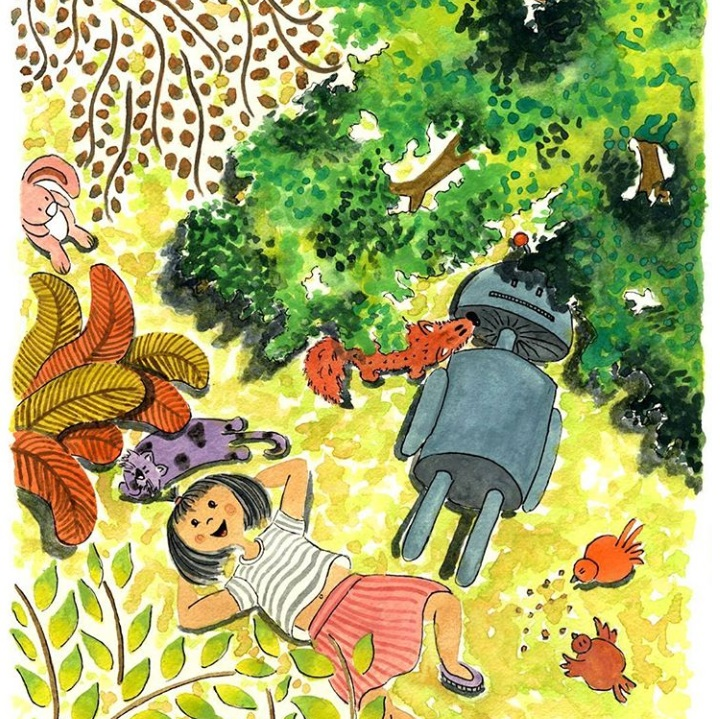 Deepti Sunder illustrating a children's book