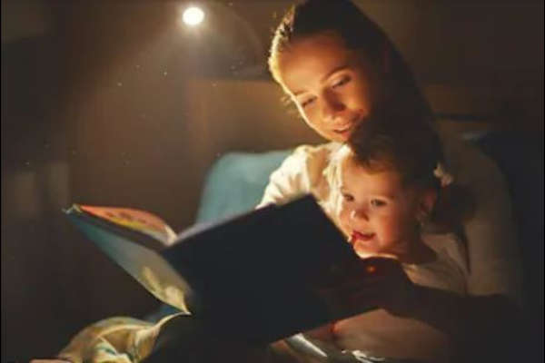 mom reading to a child