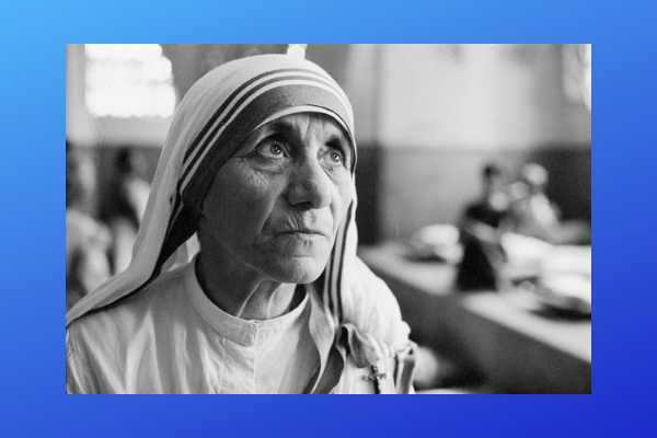 Indian Nobel prize winner Mother Teresa