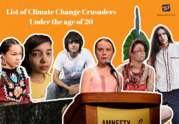 List of Climate Change Crusaders Like Greta Thunberg