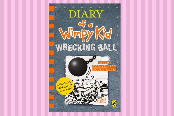 Best Books Of 2019 Diary of A Wimpy Kid Wrecking Ball by author Jeff Kinney