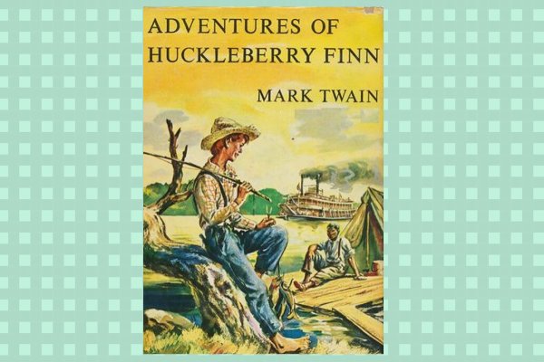 The Adventures of Huckleberry Finn, by author Mark Twain