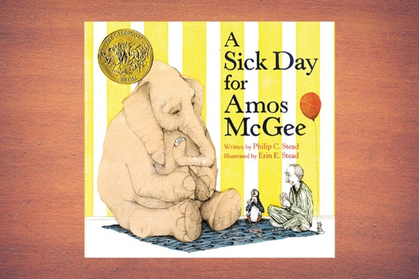 A Sick Day for Amos McGee by author Philip Christian Stead